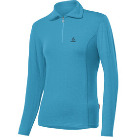 Löffler Basic Transtex Sweat-shirt Zip avec col Femme, topaz blue